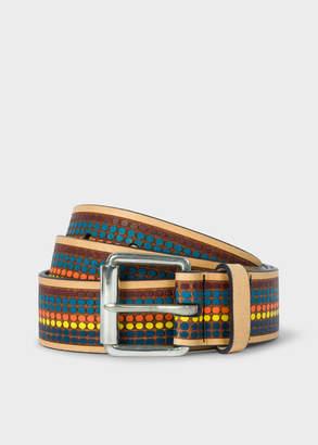 Paul Smith Men's Multi-Coloured Polka Dot Leather Belt