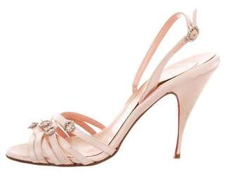 Christian Louboutin Embellished Satin Sandals