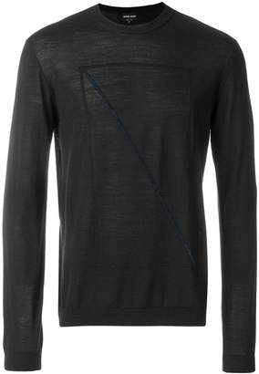 Giorgio Armani front prined longsleeved sweater