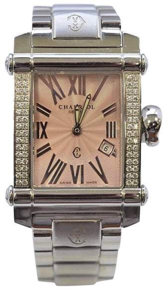 Charriol Charriol Stainless Steel Pink Diamond 28mm Womens Watch