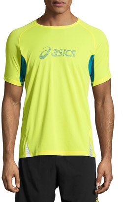 Asics Fuji Trail Graphic Tee, Electric Lime $38 thestylecure.com