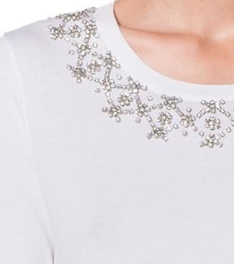 Michael Kors Embellished Cotton T-Shirt