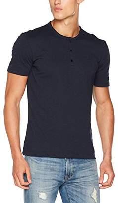 Sisley Men's Tunisienne Buttons, Short Sleeve Rund Neck T-Shirt