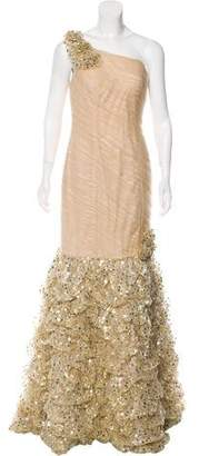 Jovani Embellished One-Shoulder Gown w/ Tags