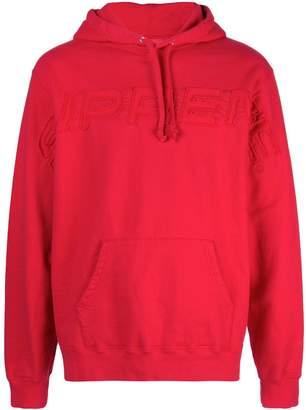 Supreme embroidered logo hoodie