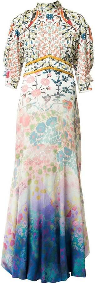 gradient effect long dress