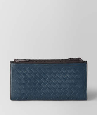 Bottega Veneta DENIM INTRECCIATO CALF MULTI-FUNCTIONAL CASE