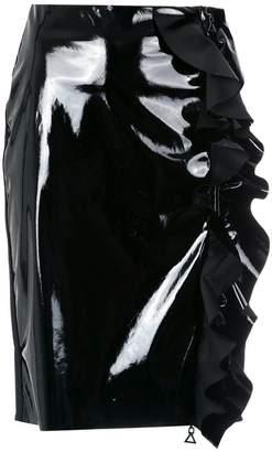Tufi Duek vinyl ruffled skirt