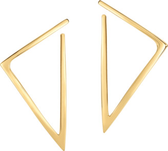 Roberto Coin Gold Triangle Hoop Earrings