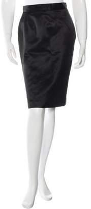 Nina Ricci Fitted Knee-Length Skirt Black Fitted Knee-Length Skirt