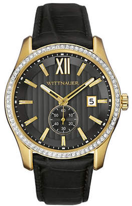 Wittnauer Michael Chronograph Goldtone Leather Watch