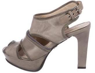 Schumacher Dorothee Leather Platform Sandals