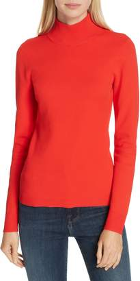 Diane von Furstenberg Mock Neck Back Cutout Sweater