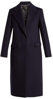 Joseph Magnus Single Breasted Wool Blend Coat - Womens - Navy