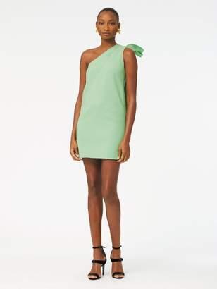 Oscar de la Renta One-Shoulder Double-Face Stretch-Wool Dress