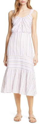 Rebecca Taylor Metallic Stripe Cotton Sundress