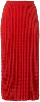 Victoria Beckham pleated knit skirt
