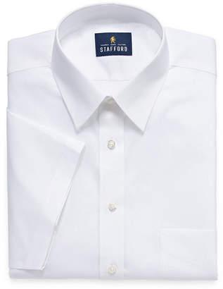STAFFORD Stafford Travel Easy Care Stretch Broadcloth Short Sleeve Dress Shirt - Big and Tall