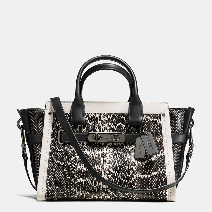 Coach   COACH Coach Swagger 27 In Genuine Snake