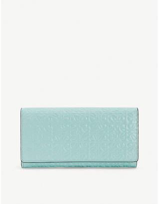 Loewe Continental logo-embossed leather wallet
