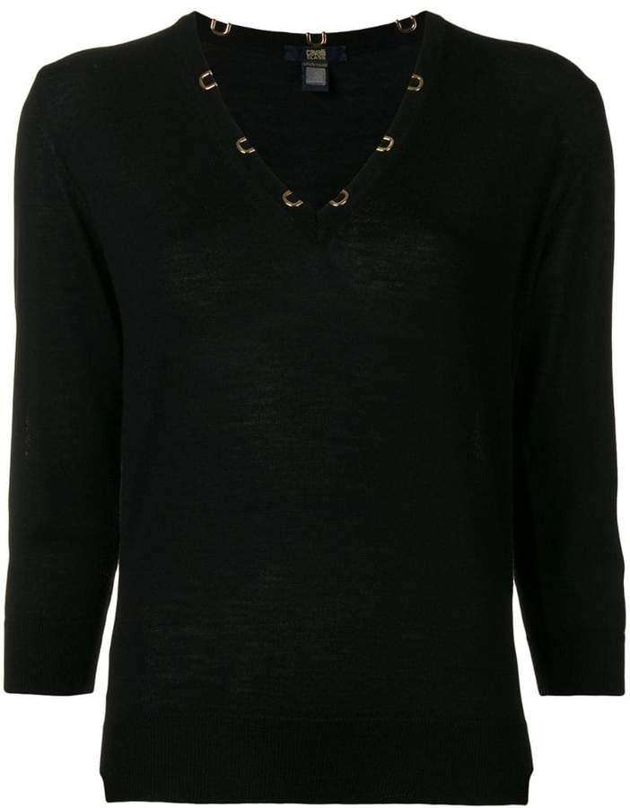 Cavalli Class V-neck sweater