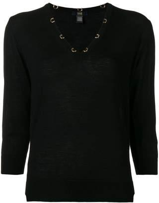Class Roberto Cavalli V-neck sweater