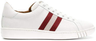 Bally perforated stripe sneakers