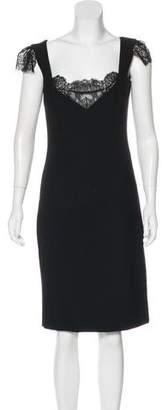 Dolce & Gabbana Lace-Trimmed Virgin Wool Dress