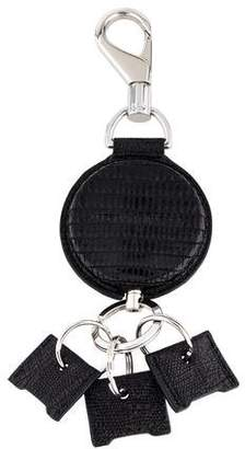 Alexander Wang Embossed Leather Keychain