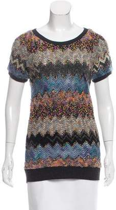 Peter Som Patterned Short Sleeve Sweater