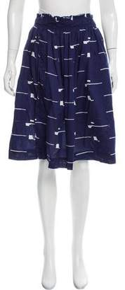 Apiece Apart Printed Knee-Length Skirt