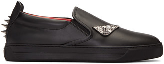 Fendi Black Monster Eyes Sneakers $800 thestylecure.com