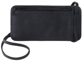 Royce Leather Royce Hanging Passport Travel Document Holder in Leather