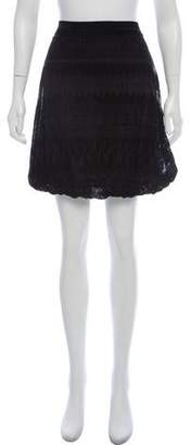 Jean Paul Gaultier Soleil Velvet Mini Skirt