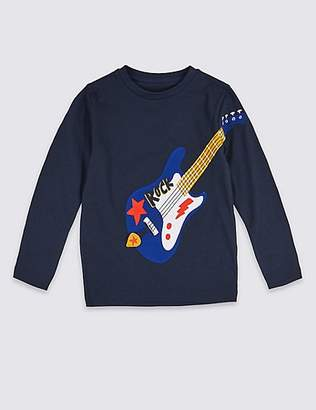 Marks and Spencer Pure Cotton Guitar Top (3 Months - 7 Years)