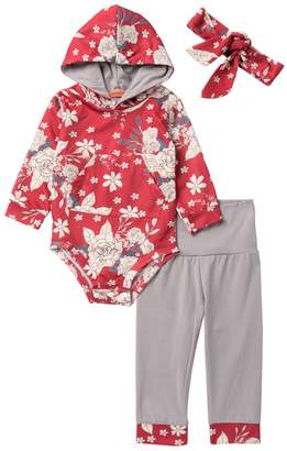 Funkyberry Floral Jumpsuit 3-Piece Set (Baby Girls)