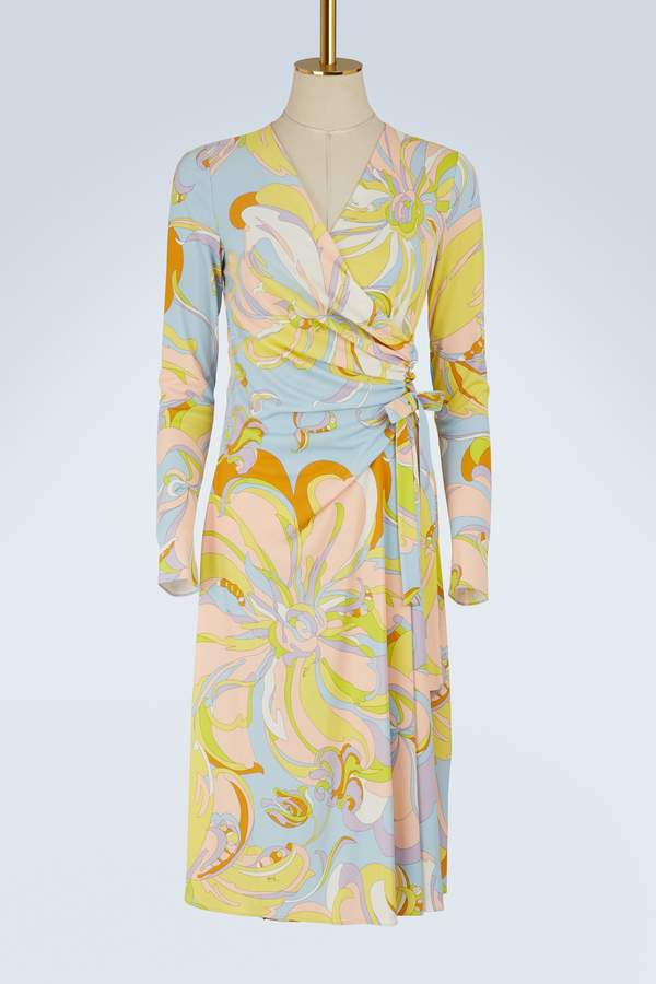 Emilio Pucci Aruba printed wrap dress