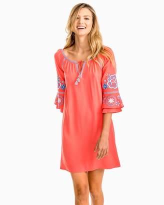 Southern Tide Natalie Embroidered Boho Dress