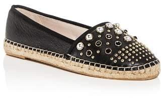 Kenneth Cole Women's Brigid Studded Leather Espadrille Flats