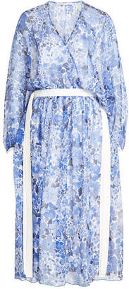 Agnona Printed Silk Chiffon Dress