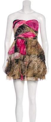Diane von Furstenberg Ruffle-Accented Mini Dress w/ Tags