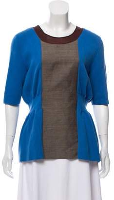 Marni Short Sleeve Scoop Neck Sweater