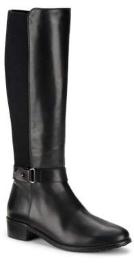 Leather Side Zip Knee-High Boots $495 thestylecure.com