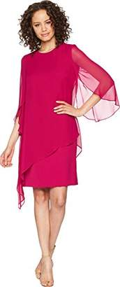 Tahari by Arthur S. Levine Women's Scoop Neck Long Sleeve Dress