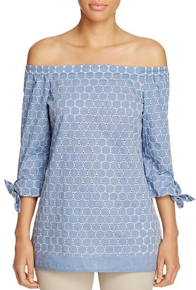 Lafayette 148 New York Natayla Off-the-Shoulder Blouse $348 thestylecure.com