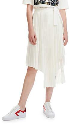 Maje Pré Jaxy Pleated Asymmetrical Skirt