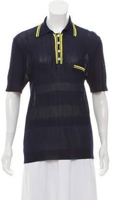 MAISON KITSUNÉ Short-Sleeve Knit Top