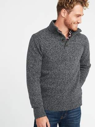 Old Navy Button Mock-Neck Sweater for Men