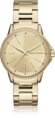 Armani Exchange Lady Banks Gold PVD Women's Watch