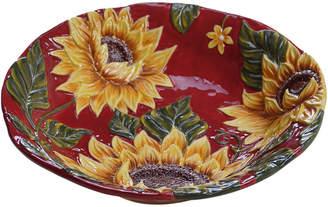 Certified International Sunset Sunflower 13In Serving Bowl